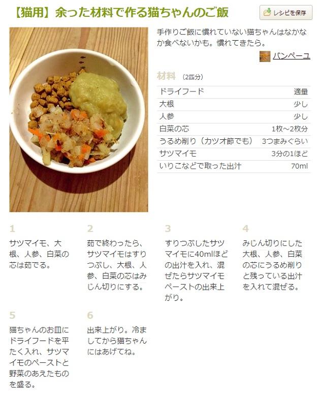 キャットフード手作りレシピの画像